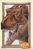 T-Rex Dinosaur Window Print Poster Print