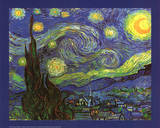 Vincent Van Gogh (Starry Night) Art Print Poster Posters