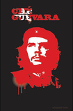 Che Guevara (Spray Paint) Blacklight Art Poster Print Posters