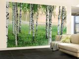 Nordic Forest Huge Wall Mural Art Print Poster - Duvar Resimleri