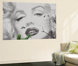 Marilyn Monroe at Cannes by Valery Hache Mini Mural Huge Movie Poster Print Wandgemälde