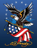 Ed Hardy (American Eagle) Art Poster Print Poster