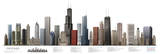 Chicago Illustrated Panorama Skyscraper Poster Print Posters