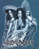 Three Mujeres (Aztec Dream, 3 Women) Art Poster Print Print