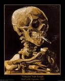 Vincent Van Gogh (Skull with Cigarette, 1885) Art Print Poster Poster