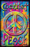 Coexist Peace Sign Blacklight Poster Print Poster