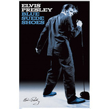 Elvis Presley Blue Suede Shoes Music Poster Print Prints