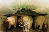 Elephant World Art Print Poster Posters