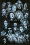 Metal Heroes (Ozzy Scott Ian Metallica Lemmy David Lee Roth Van Halen Led Zeppelin ) Poster Poster