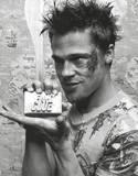 Fight Club Brad Pitt Holding Soap Movie Poster Print Masterprint