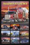 Supertrucks (Semi Trucks) Art Poster Print Posters