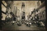 New York City (Times Square, B&W) Art Poster Print Stampe