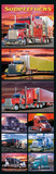Supertrucks (Semi Trucks) Art Poster Print Prints