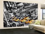New York City Taxi Cabs Queue Huge Wall Mural Art Print Poster Fototapeten