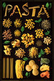 Pasta (Types) Art Poster Print Posters