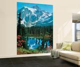 Cima de una montaña - Mural de papel pintado panorámico Mural de papel pintado