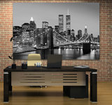 New York City Brooklyn Bridge by Henri Silberman Mini Mural Huge Poster Art Print Wall Mural