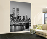 Henri Silberman Brooklyn Bridge New York City Huge Wall Mural Art Print Poster Vægplakat i tapetform