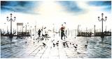 Romance, San Marco, Venice, Door Poster Art Print Prints