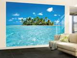 Maldive Dream Huge Wall Mural Art Print Poster Bildtapet (tapet)