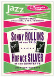 Sonny Rollins Trio & Horace Silver Jazz Music Poster Print Affiches