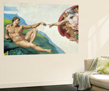 Michelangelo The Creation of Adam Mini Mural Huge Poster Art Print Reproduction murale g&#233;ante