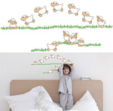 Jumping Sheep 20 Wall Stickers Vinilos decorativos