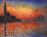 Claude Monet (Sunset in Venice) Art Poster Print Masterprint