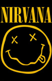 Nirvana Smiley Face Music Poster Print Psters