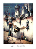 Gil Bruvel La Cite Infime Infinitesimal City Art Print Poster Print