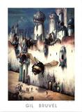 Gil Bruvel La Cite Infime Infinitesimal City Art Print Poster Print
