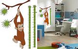 Measuring Tape Growth Chart Monkey 36 Wall Stickers Vinilos decorativos