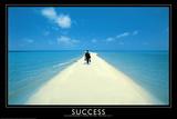 Success Walking on Beach Art Print Poster Plakaty