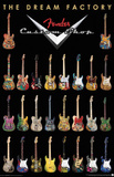 Fender Guitars The Dream Factory Music Poster Print Posters