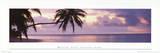Tropical Sunset (Maldives, Kaafu, Fihalhohi Island) Art Poster Print Láminas