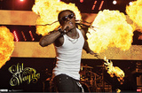 Lil Wayne Stage Fire Music Poster Photo