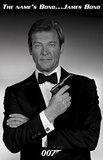 James Bond Roger Moore Movie Poster Print Posters