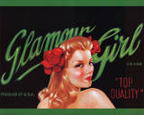 Glamour Girl Retro Art Print Poster Posters