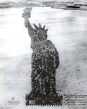 Human Statue of Liberty (New York City) Art Poster Print Poster