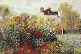 Claude Monet The Artist's Garden Art Print Poster Photo