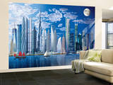 Tallest Buildings Huge Wall Mural Art Print Poster Behangposter