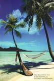 Paradise Beach Hammock Art Print Poster Poster