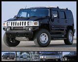 Hummer (Black Stealth) Art Poster Print Posters