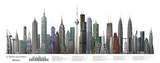 33 World Buildings Skyscrapers Art Poster Print Bilder
