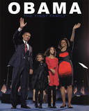 Barack Obama and First Family Art Print Poster Plakaty
