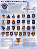 B-29/B-50 Airplane Superfortress Wings Educational Military Chart Poster Posters