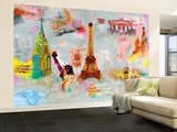 Around the World Huge Wall Mural Art Print Poster Wallpaper Mural