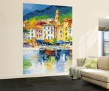 Antonio di Viccaro Riviera Ligure Huge Wall Mural Art Print Poster Wallpaper Mural