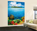 Treasure Island Huge Wall Mural Art Print Poster Mural de papel de parede