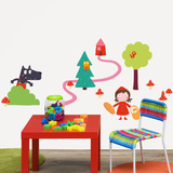 Isabelle Jacque Little Red Riding Hood Wall Stickers Decalque em parede